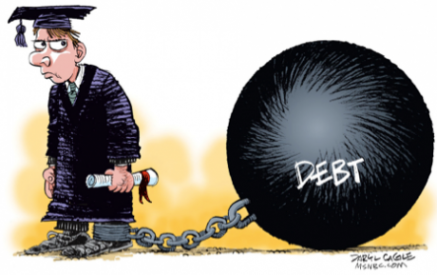 Graduate chained by debt